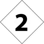 "NMC DCN22 NFPA Label Number, 2, 2-1/2"" X 2-1/2"", White/Black, 5/Pk"