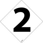 """NMC DCN42 NFPA Label Number, 2, 5"""" X 5"""", White/Black, 5/Pk - Pkg Qty 5"""