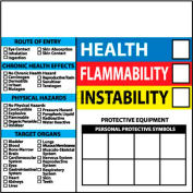 "NMC HM42 RTK Labels-Write On Color Bar, 6"" X 6"", Red/Yellow/White/Blue, PSV"