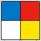 "NMC HMS10R Hazardous Materials Systems Label, 10-1/2"" x 10-1/2"", 1 Each"