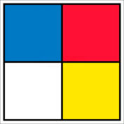 "NMC HMS15P Hazardous Materials Systems Label, 15-1/2"" X 15-1/2"", Red/Yellow/White/Blue, 5/Pk"