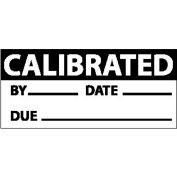 "Nmc Inl2 Inspection Label - Calibrated, 1"" X 2-1/4"", Black/White, 3 Per Pack"