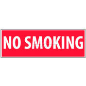 "NMC M11R No Smoking Area Sign, No Smoking, 4"" X 12"", White/Red"