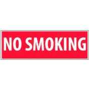 """NMC M11R No Smoking Area Sign, No Smoking, 4"""" X 12"""", White/Red"""
