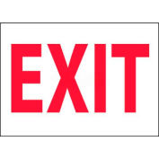 """NMC M24P Fire Sign, Exit, 7"""" X 10"""", White/Red"""