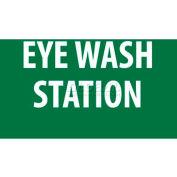 "NMC M441RB Sign, Eye Wash Station, 10"" X 14"", White/Green"
