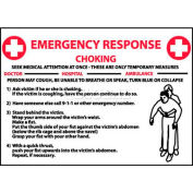 "NMC M458RB Sign, Choke Emergency Response, 10"" X 14"", White/Red/Black"
