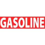 """NMC M725LP Flammable/Combustible Sign, Gasoline, 2"""" X 5"""", White/Red"""