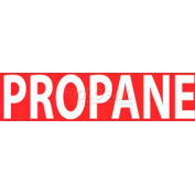 """NMC M770LP Flammable / Combustible Sign / Propane / 2"""" X 5"""" / White / Red"""