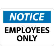 "NMC N215RB OSHA Sign, Notice Employees Only, 10"" X 14"", White/Blue/Black"