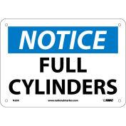 "NMC N26R OSHA Sign, Notice Full Cylinders, 7"" X 10"", White/Blue/Black"