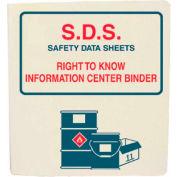 """NMC RTK21, Safety Data Sheet Binder, 1-1/2"""" Rings, White"""