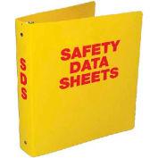 "NMC RTK63C, Safety Data Sheet Binder, 3.5"" Rings, 3/16"" Hole in Spine, Yellow"