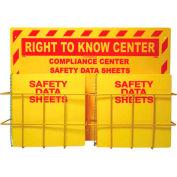 """NMC RTK82, Right To Know Information Center w/ 2 Racks, 20"""" x 28"""", Yellow"""