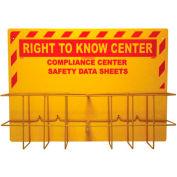 NMC RTK85, Right To Know Information Center, No Binder, 2 Racks & Backboard, Yellow