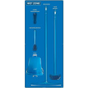 National Marker Wet Zone Shadow Board Combo Kit, Blue/White,68 X 30, Alum Composite Panel- SBK113ACP