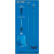 National Marker Wet Zone Shadow Board Combo Kit, Blue/Black,68 X 30, Alum Composite Panel- SBK116ACP