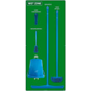 National Marker Wet Zone Shadow Board Combo Kit, Green/Blue,68 X 30, Alum Composite Panel- SBK119ACP