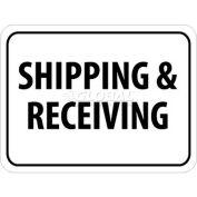 "NMC TM228J Traffic Sign, Shipping & Receiving, 18"" X 24"", White/Black"
