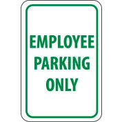 "NMC TM52G Traffic Sign, Employee Parking Only, 18"" X 12"", White/Green"