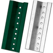 NMC UP3G Break Away U-Channel Steel Sign Post, 3-FT, Green, UP3G
