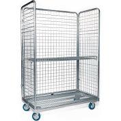 """Nashville Wire Steel Cargo Cart Open Front 48""""W x 24""""D x 70""""H"""