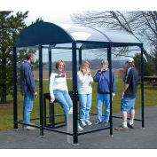 """No Butts 4 Sided Smoking Shelter NBS0820FS - Freestanding  - 17'2""""W x 7'D x 7'11""""H Black"""