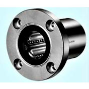 """NB Corp SWSF8GUU 1/2"""" ID Round Flange Type Linear Bearing W/Resin Retainer & Seals, Stainless Steel"""