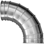 "Nordfab 3210-0490-104000 QF Elbow 90 Degree 1.0 CLR, 4"" Dia, Galvanized Steel"