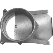 "Nordfab 3240-0600-200000 QF Manual Blast Gate, 6"" Dia, 304 Stainless Steel"