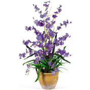 Nearly Natural Dancing Lady Silk Orchid Arrangement, Purple