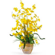 Nearly Natural Dancing Lady Silk Orchid Arrangement, Yellow