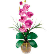 Nearly Natural Phalaenopsis Silk Orchid Flower Arrangement, Mauve