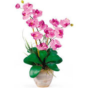 Nearly Natural Double Phalaenopsis Silk Orchid Flower Arrangement, Mauve