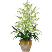 Nearly Natural Triple Dancing Lady Silk Flower Arrangement, Green