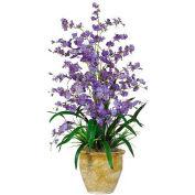 Nearly Natural Triple Dancing Lady Silk Flower Arrangement, Purple