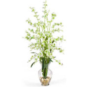 Nearly Natural Dancing Lady Liquid Illusion Silk Flower Arrangement, Green