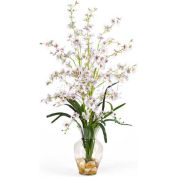 Nearly Natural Dancing Lady Liquid Illusion Silk Flower Arrangement, White