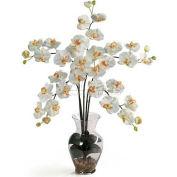 Nearly Natural Phalaenopsis Liquid Illusion Silk Flower Arrangement, Cream