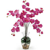 Nearly Natural Phalaenopsis Liquid Illusion Silk Flower Arrangement, Dark Pink