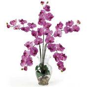 Nearly Natural Phalaenopsis Liquid Illusion Silk Flower Arrangement, Mauve