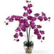 Nearly Natural Phalaenopsis Liquid Illusion Silk Flower Arrangement, Orchid
