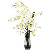 Nearly Natural Dendrobium with Vase Silk Flower Arrangement, Cream
