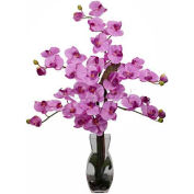 Nearly Natural Phalaenopsis with Vase Silk Flower Arrangement, Mauve