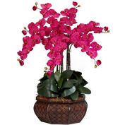 Nearly Natural Large Phalaenopsis Silk Flower Arrangement, Beauty