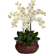 Nearly Natural Large Phalaenopsis Silk Flower Arrangement, Cream
