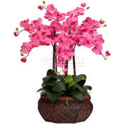 Nearly Natural Large Phalaenopsis Silk Flower Arrangement, Dark Pink
