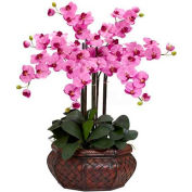 Nearly Natural Large Phalaenopsis Silk Flower Arrangement, Mauve