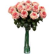Nearly Natural Fancy Rose Silk Flower Arrangement, Pink