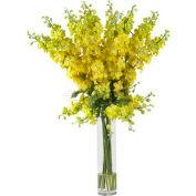 Nearly Natural Delphinium Silk Flower Arrangement, Yellow